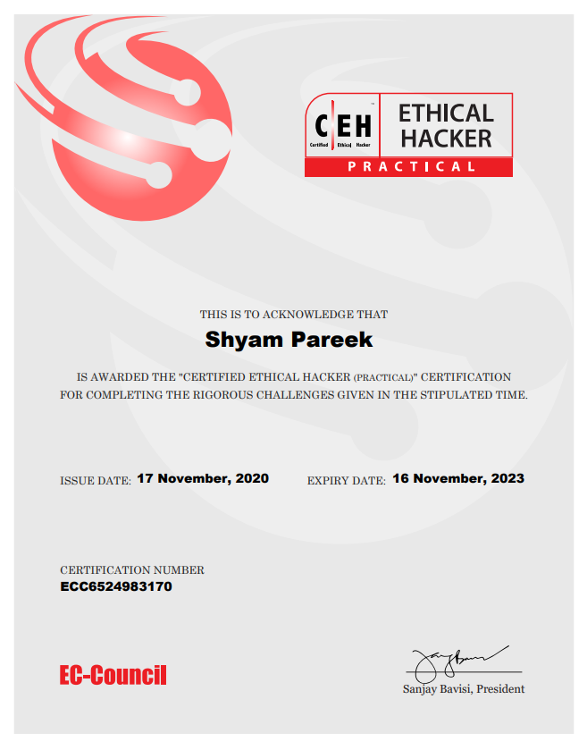 Certified Ethical Hacker (Practical)