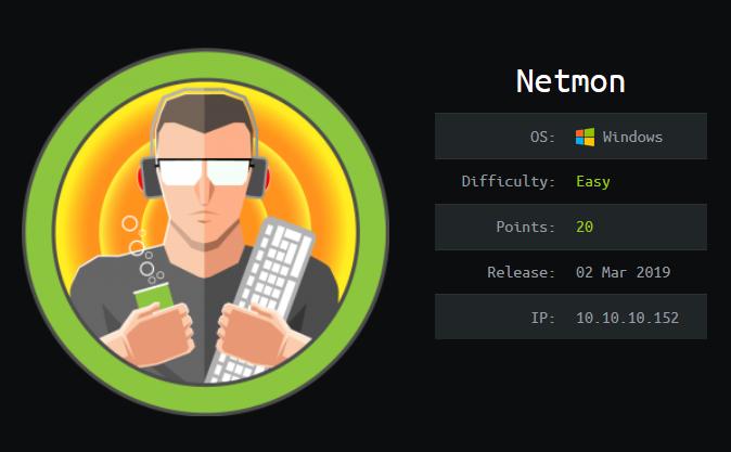Netmon – Hackthebox Walkthrough